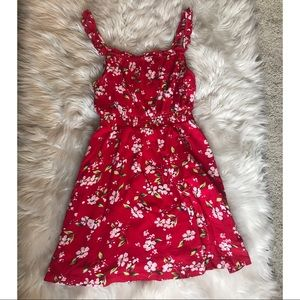 Abound Red Floral mini dress